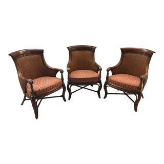 Ethan Allen Rattan Side Chairs - Set of 3