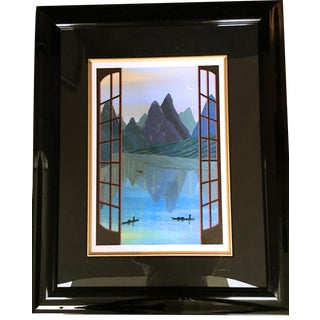 """Fanch Ledan """"China Mountains"""" Hand Signed and Numbered Serigraph"""