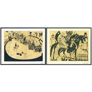 1944 Lithographs - Circus: # 1 & 74 - A Pair