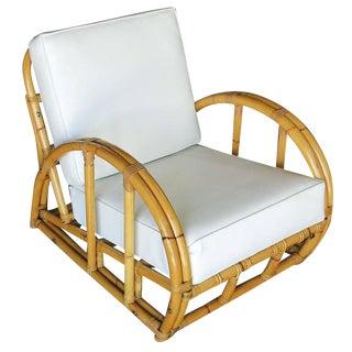 Half Moon Rattan Two Strand Lounge Chair