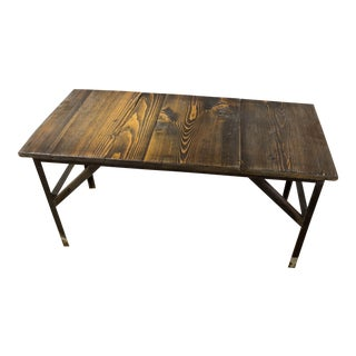 Rustic Dark Stain Coffee Table