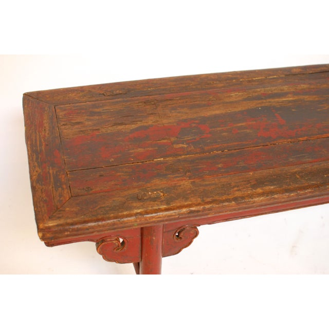 Antique Chinese Carved Bench - Image 4 of 5