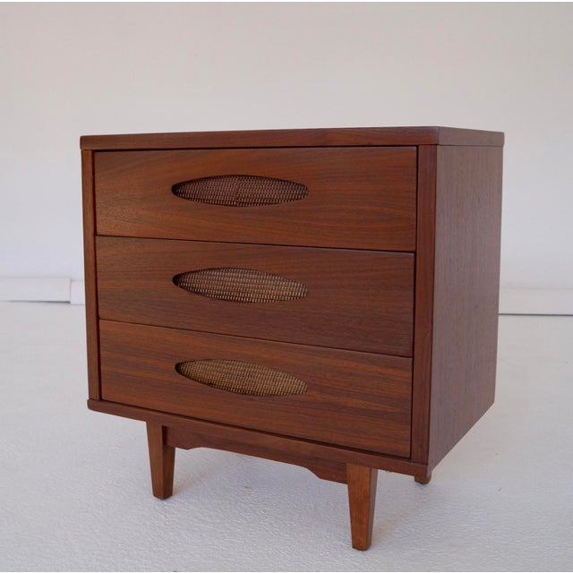 McCoy Furniture Mid-Century 3-Drawer Walnut Nightstand - Image 2 of 10
