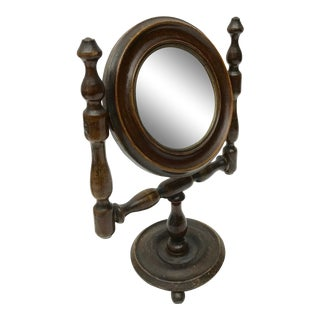 Antique French Shaving Mirror, C.1900