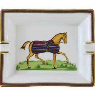 Hermes Equestrian Horse Stripe Blanket Ashtray