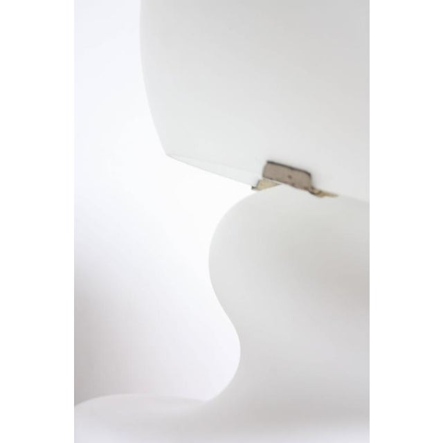 Substantial Mid-Century Italian Modern Cased and Frosted Glass Lamp - Image 8 of 10