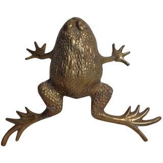 Midcentury Brass Frog
