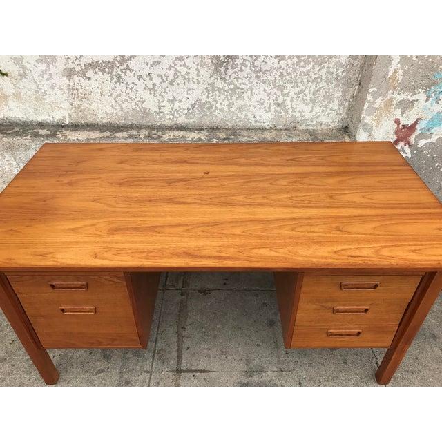 Danish Modern Executive Desk - Image 3 of 3