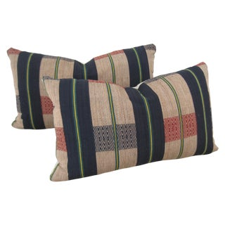 Handwoven Tribal Pillows - A Pair