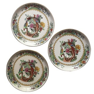Copeland Spode Bird Saucers - Set of 3