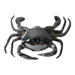 Chrome Crab Door Knocker