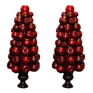 Apple Topiary Urns - A Pair
