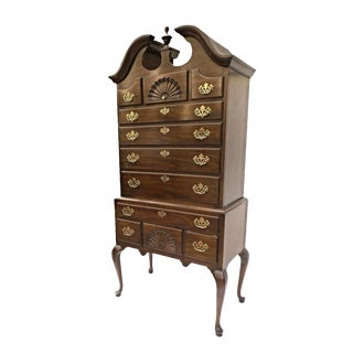 Drexel Queen Anne Style Mahogany Highboy Chest