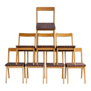 Jens Risom Birch Dining Chairs - Set of 8
