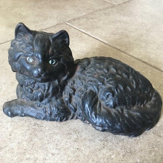 Antique Hubley Cast Iron Persian Cat Doorstop - Image 4 of 10