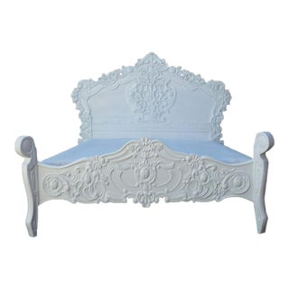 French Baroque Queen Size Bed Frame