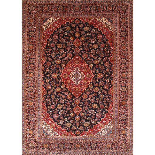 "Pasargad Kashan Collection Rug - 9'10"" X 13'10"" - Image 1 of 2"