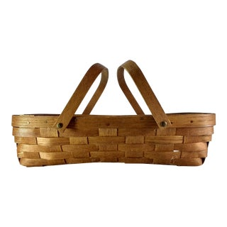 Vintage Basketville Woven Gathering Basket