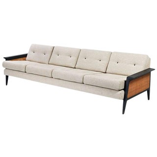 Mid Century Modern Restored Cane Sofa
