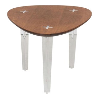Mid-Century Heart Shape Coffee Table Lucite Legs