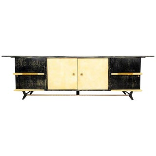 Mexican Modernist Long Credenza with Pepe Mendoza Hardware