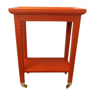 Orange Phone Table