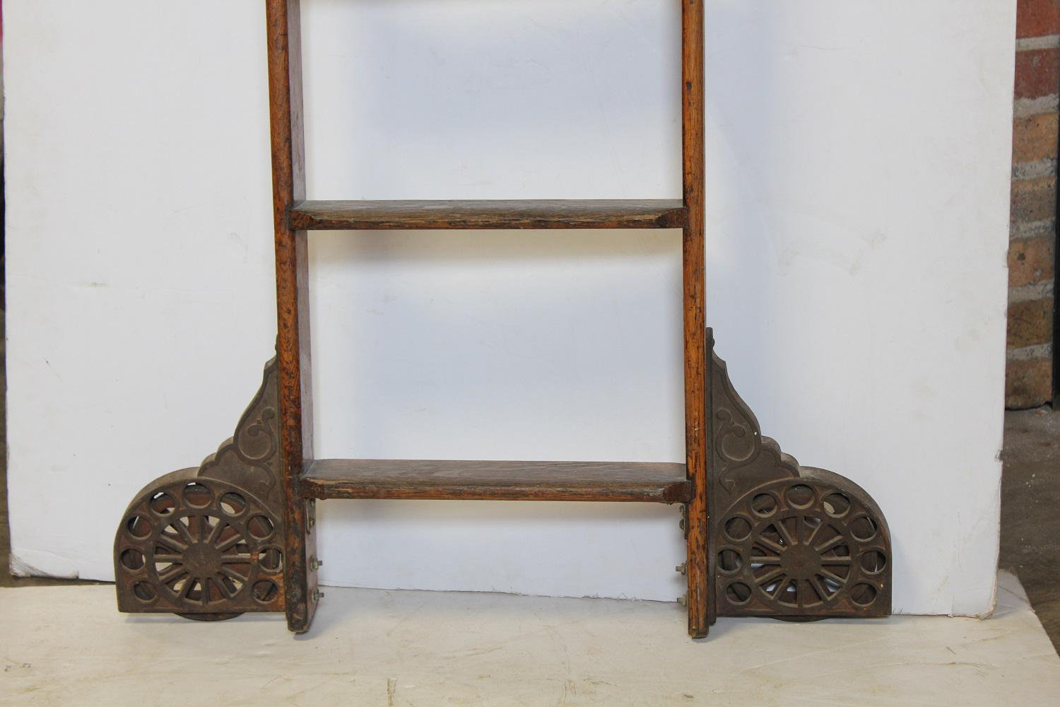 antique library ladder by coburn trolley track mfg co image 2 of 3