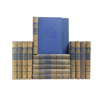 1930s Vintage Blue Reference Books - Set of 15