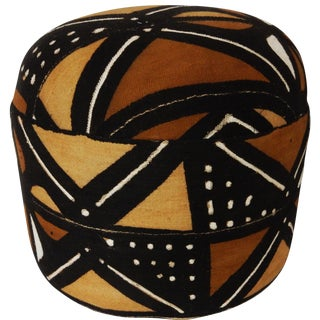 African Mud Cloth Ottoman