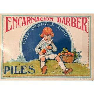 1930s Vintage Spanish Label, Little Boy Blue