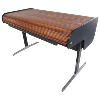 George Nelson for Herman Miller Mid-Century Tambour Roll-Top Desk