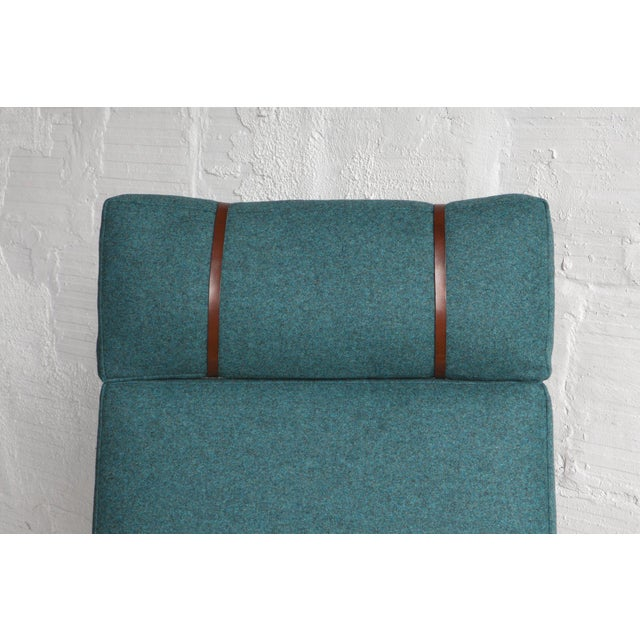 Danish High Back Lounge Chair & Ottoman - Image 8 of 10