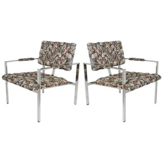 Pair of Milo Baughman Lounge Chairs