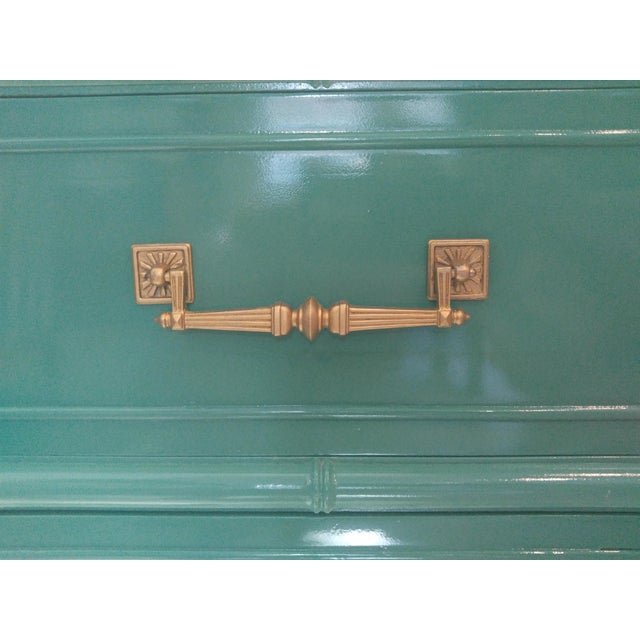 Henry Link for Dixie Green Faux Bamboo Dresser - Image 7 of 10
