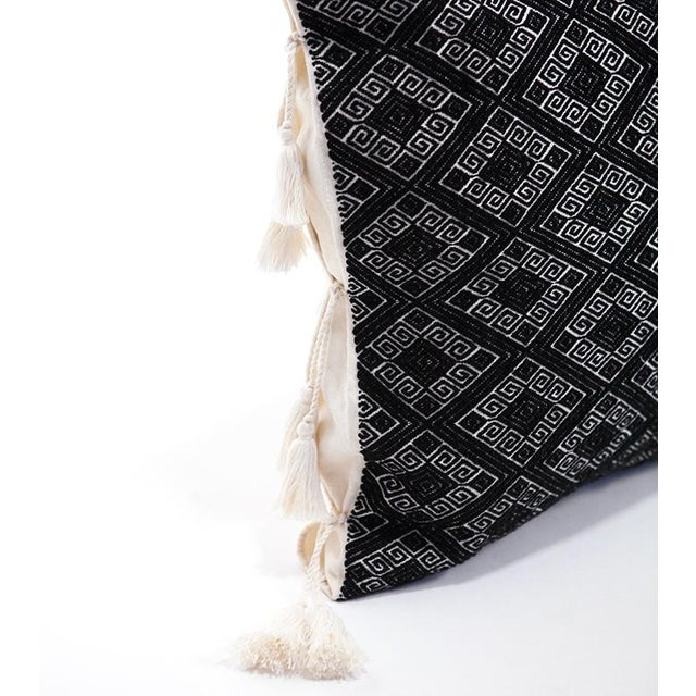 Black Diamonds Handwoven Pillow - Image 2 of 6