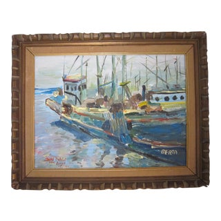 Vintage Nautical Painting by Dubeil