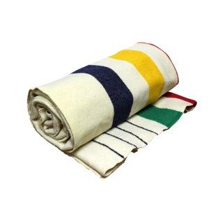 Vintage Hudson Bay Four Point Wool Blanket