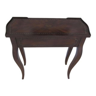 Rectangular Inlaid Gallery End Table