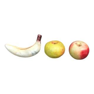 Vintage Italian Alabaster Fruit - Set of 3