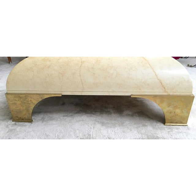 Image of Parchment Finish Cocktail Table