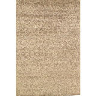 Indo Tabriz Lamb's Wool & Silk Rug - 5′5″ × 8′1″