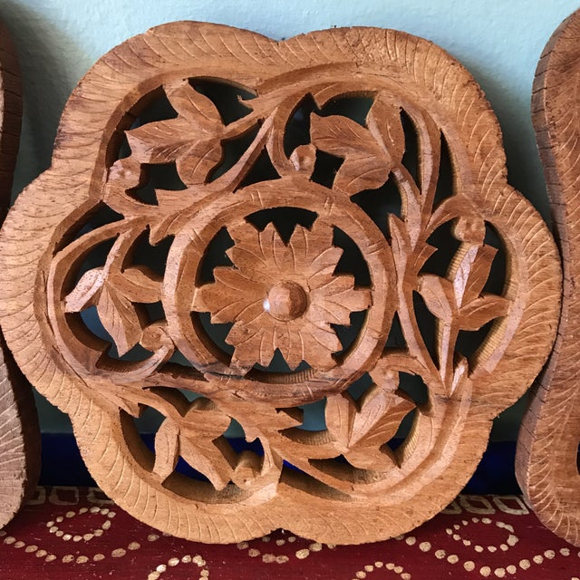 Hand-Carved Trivets - Set of 3 - Image 5 of 10