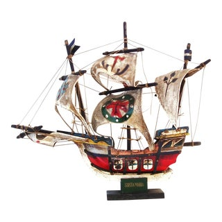 Wooden Ship Model Pirate Ship Nautical Sail Boat
