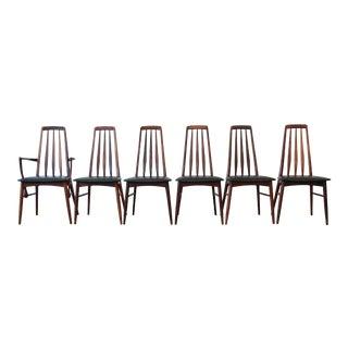 Niels Koefoed for Koefoeds Hornslet Eva Rosewood Dining Chairs- Set of 6