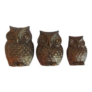 Vintage Owls-3 Pieces