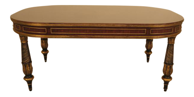 EJ Victor Inlaid Mahogany Regency Coffee Table