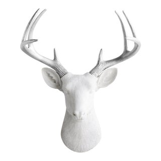 White & Silver Deer Wall Decor