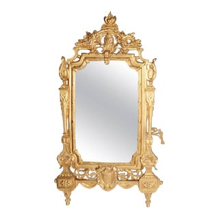19th Century French Gilt Framed Mirror