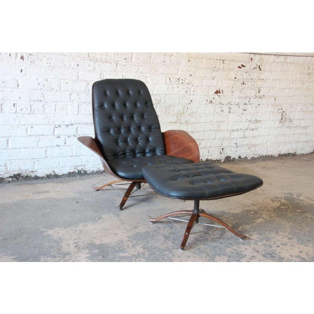 """George Mulhauser for Plycraft """"Mr. Chair"""" and Ottoman - Image 2 of 10"""
