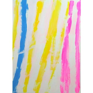 "Susie Kate ""Summer Stripe"" Original Abstract Painting"